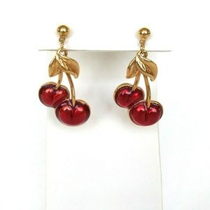 Avon Red Cherry Earrings